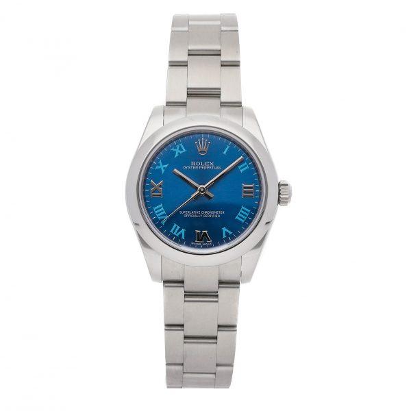 Replica Damen Rolex Oyster Perpetual 177200 Dial Blue Mechanical Automatic