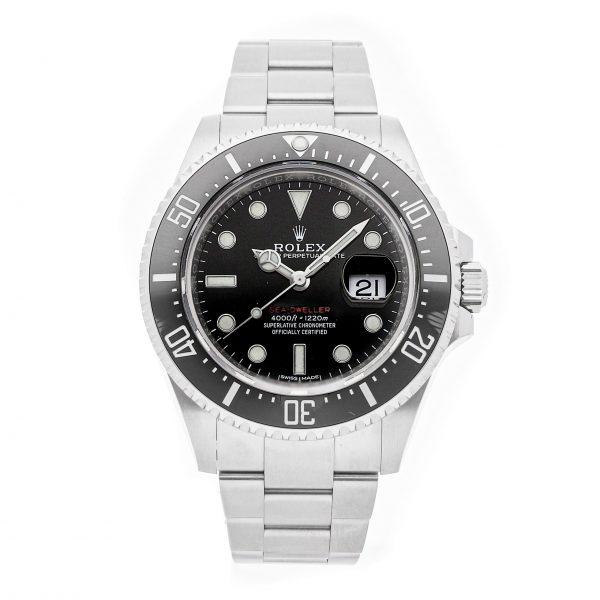 Herren Edelstahl Round Fake Rolex Sea-Dweller 4000 126600 Schwarz