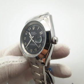 Rolex Datejust 116200 36mm schwarze 904L Edelstahl Automatikuhr