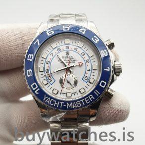 Rolex Yacht-master 116680 Herren Automatik Weiß 44 mm Stahluhr