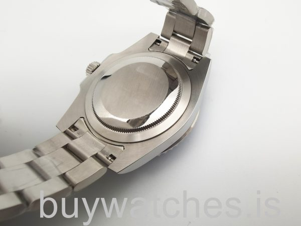 Rolex Submariner 116619 Weiß 40mm Gold Automatik Herren Blau W Uhr