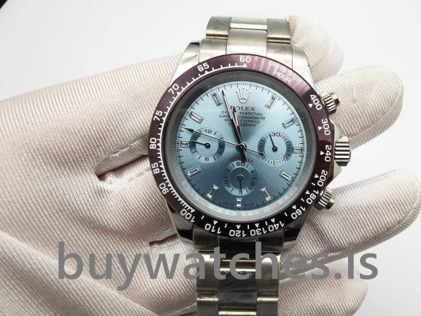 Rolex Daytona 116506 Hellblaue Herren Automatik 950 Platinum Uhr