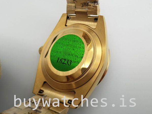 Rolex Day-Date 128348rbr 36 mm Gold mit Diamanten Unisex Automatikuhr