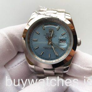 Rolex Day-Date 228206 Mans 40 Mm Blue Dial Style Automatische Stahluhr