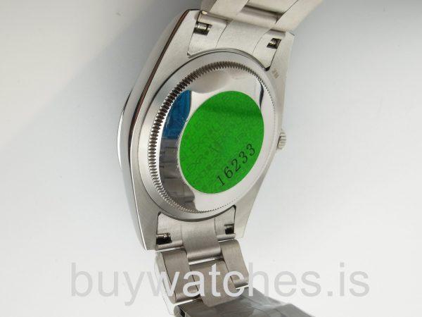 Rolex Datejust 16200 Silber Zifferblatt 36 mm Edelstahl Automatikuhr