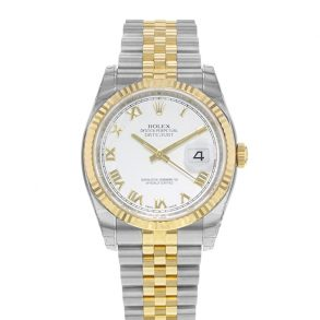 Rolex Datejust 116233 Damen White Steel 36 mm Automatikuhr