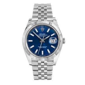 Rolex Datejust 126300 Herren 41mm Blue Steel Automatikuhr