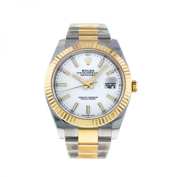Rolex Datejust Oyster White Stk Asian 2813 Herren weiße Automatikuhr