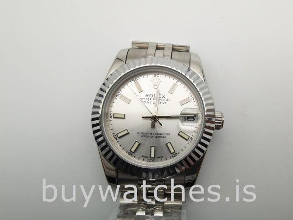Rolex Datejust 68274 Damen 31 mm Stahl Silber Automatikuhr