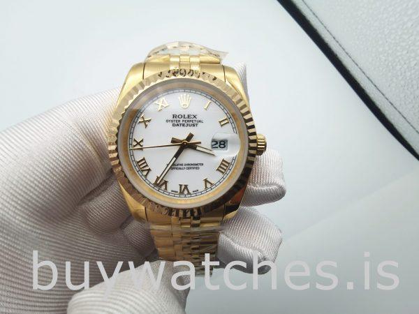 Rolex Datejust 126333 Herren 41 mm Edelstahl Weiß Automatikuhr