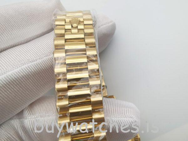 Rolex Day-Date II 218238 Automatische Herren 41 mm Gelbgold Stahluhr