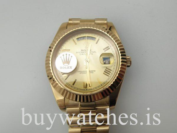 Rolex Day-Date 228238 Gelbgold 40 mm Unisex Automatik Stahluhr