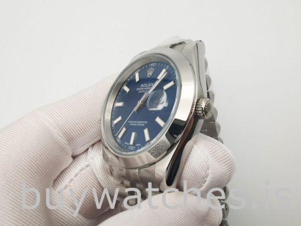 Rolex Datejust 126300 Herren 41mm Blue Steel Automatikuhr