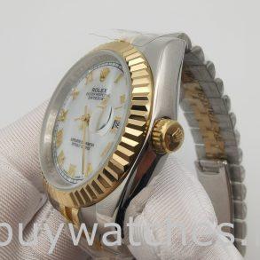 Rolex Datejust 116233 Damen White Steel 36 mm Automatikuhr