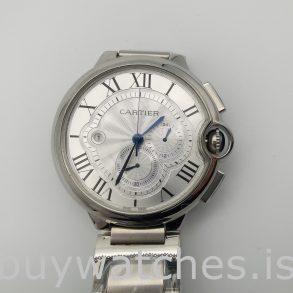 Cartier Ballon Bleu W6920002 Silber Herren Stahl 47mm Automatikuhr