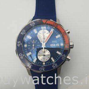 IWC Aquatimer IW376704 Blaue Gummi 44mm runde Automatikuhr