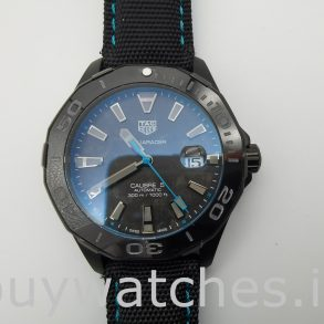 TAG Heuer Aquaracer WBD218C.FC6447 Schwarze Nylon 41mm Automatikuhr