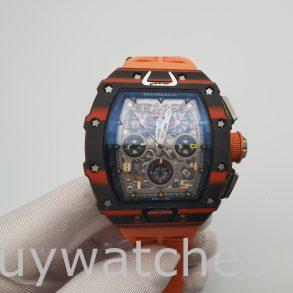 Richard Mille RM11-03 Unisex 44mm Carbon Gehäuse Gummi Automatikuhr
