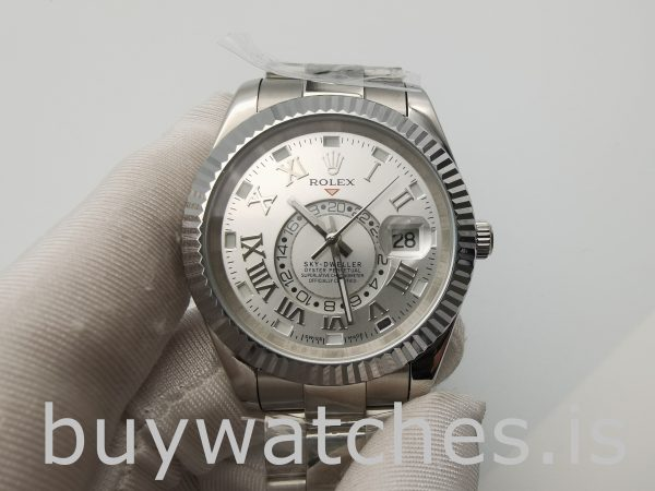 Rolex Sky-Dweller 326939 Elfenbein Zifferblatt 42mm Herren runde Automatikuhr