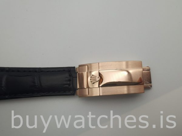 Rolex Daytona 116515 Leder 40mm Schokoladenzifferblatt Automatikuhr