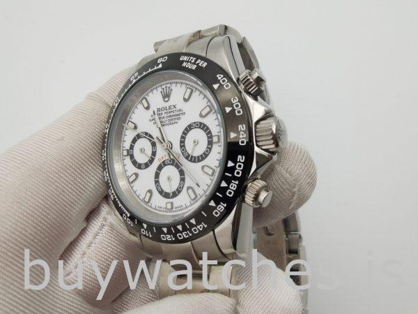 Rolex Daytona 116500 Herren 40mm White Dial Automatic 4130 Uhr