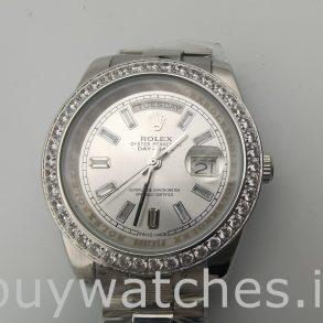 Rolex Day-Date 228349RBR Silber Zifferblatt 40mm Herren Automatikuhr