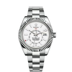 Rolex Sky-Dweller 326934 Weißes Zifferblatt Herren 42mm Stahl Automatikuhr