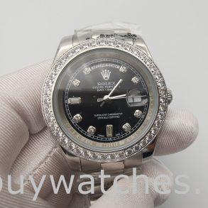 Rolex Day-Date 228349RBR Herren 40mm Black Dial Automatikuhr