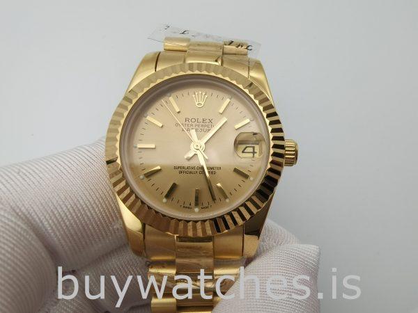 Rolex Datejust 68278 Champagner Zifferblatt Damen 31mm Automatikuhr