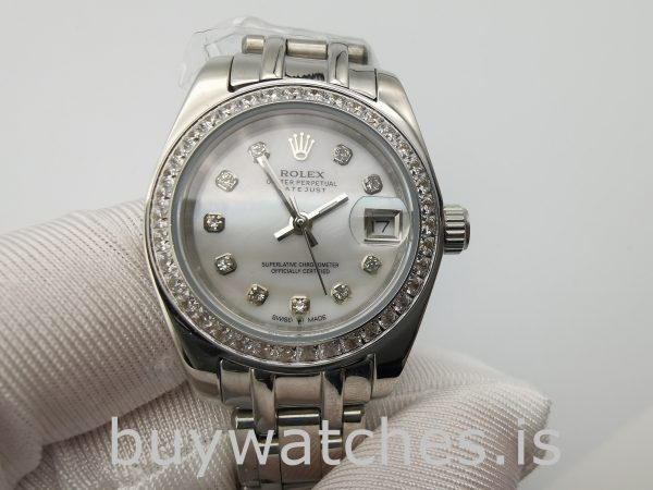 Rolex Datejust 80299 Weißgold Zifferblatt Damen 29mm Automatikuhr