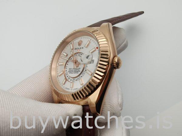 Rolex Sky-Dweller 326135 Weiße 42mm Brown Solid Automatikuhr