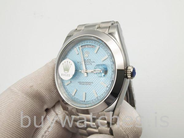 Rolex Day-Date Blue Stk Smth Men 40mm 3255 Automatikuhr