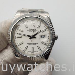 Rolex Datejust 116300 Herren 41mm White Dial Steel Automatikuhr