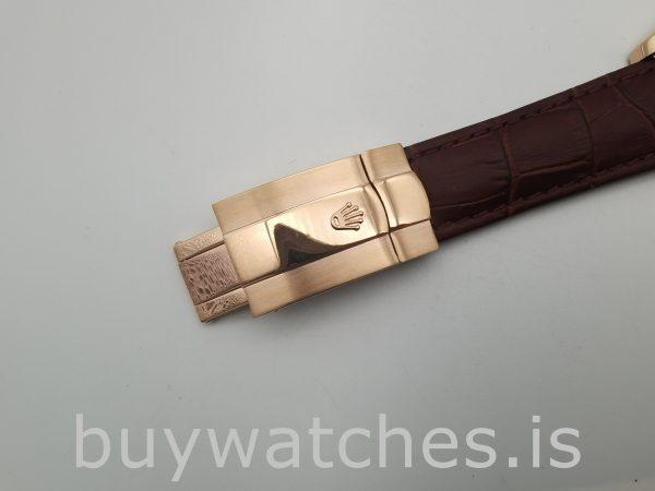 Rolex Sky-Dweller 326135 Leder Schokolade Zifferblatt 42mm Automatikuhr