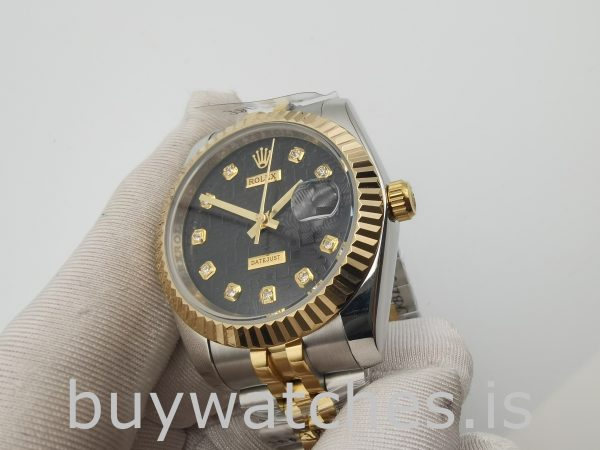 Rolex Datejust 116233 Unisex 36mm Automatikuhr aus 18 Karat Gelbgold