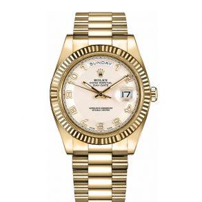 Rolex Day-Date II 218238 Herren 41mm Silber Zifferblatt Automatikuhr