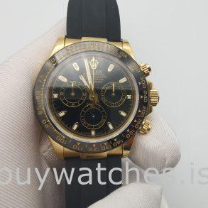 Rolex Cosmograph Daytona Herren schwarz Zifferblatt 40mm Automatikuhr