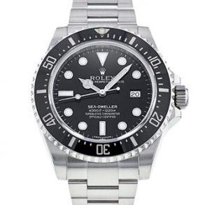 Rolex Sea-Dweller 116600 Herren 40mm Stahl Schwarz Zifferblatt Automatikuhr