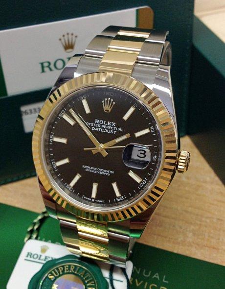 Rolex Datejust 126333 Herren 41mm 18 Karat Gelbgold Automatikuhr