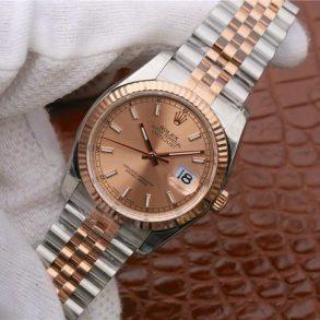 Rolex Datejust 116231 Replica Roségold Zifferblatt Damen 36mm Silberuhrmm