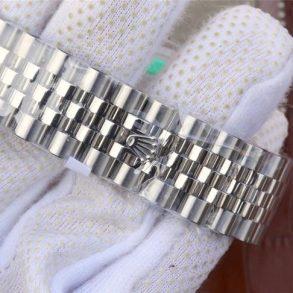 Rolex Datejust 116234 Replica Blaues Zifferblatt 36mm Silberne Damenuhr
