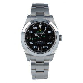 Rolex Air-King 116900 Replica Herrenuhr mit schwarzem Zifferblatt 40 mm
